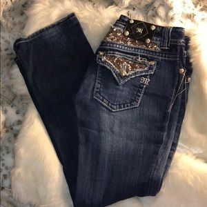 Miss me sequin pocket jeans